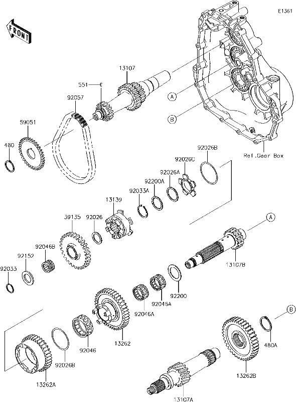 Kawasaki Gear,High,35T 13262-0107