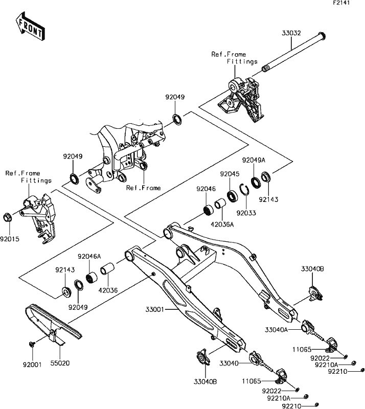 Warn A2000 Part Diagram