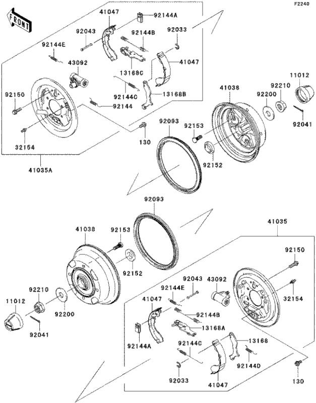 How To Adjust Brakes On Kawasaki Mule