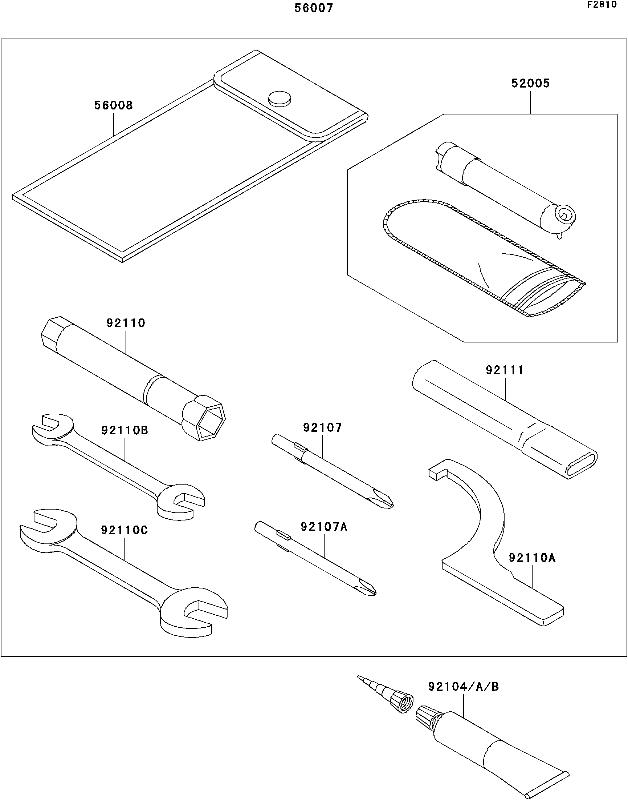 Kawasaki Fuel Filter Wrench