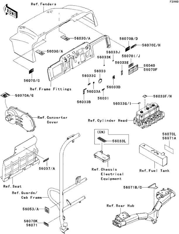 powersports kawasaki kaf950 mule 3010 diesel 4x4 2008 labels 2 2 Bobcat 2200 Parts Diagram please