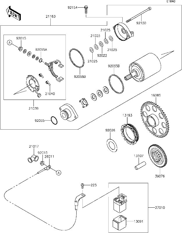 kawasaki w800 diagram